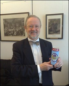 Martyn Jones with Wrexham Lager, thebrand he bought for £1. Photo: BBC News