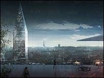 Imagen de proyecto presentado por arquitectos para rediseñar el Gran París