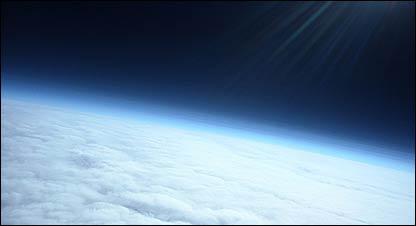 Fotografía de la estratósfera de estudiantes del IES La Bisbal  (FOTO: Meteotek)