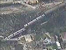 Scene of the Purley train crash