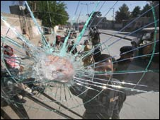 Vehicle damage in Quetta