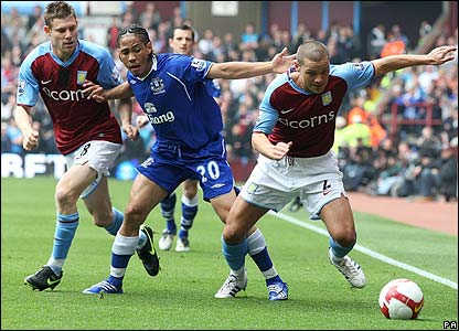 Everton were literally crowded out at Villa Park, with 12 men playing their 11.