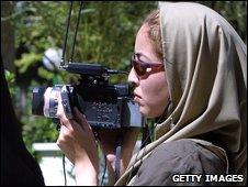 Roxana Saberi filming in Iran (2003)