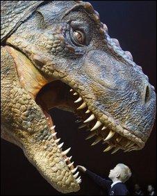 Tyrannosaur model, ADRIAN DENNIS/AFP/Getty Images