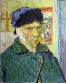 Vincent Van Gogh (1853-90), Self-Portrait with Bandaged Ear, 1889, Oil on canvas, 60 x 49 cm. Copyright: Courtauld Institute