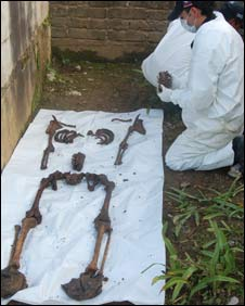 File photo of forensic experts at work