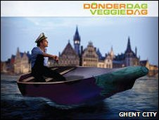 "A Ghent poster promoting ""Veggie Day"" (image from Ghent city website)"