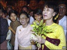 Ms Suu Kyi in May 2002