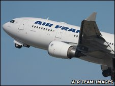 An Air France Airbus A330-200 believed to be the missing plane - archive image from AirTeam Images