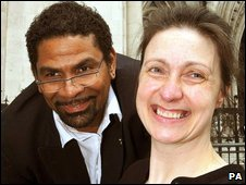 Debbie Purdy and her husband, Omar Puente, who have campaigned for  the law to be clarified