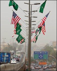 US and Saudi flags