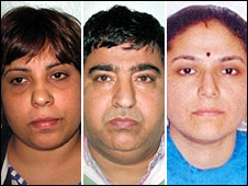 Left to right: Rakhi Shahi, Jatinder Sharma and Neeklam Sharma