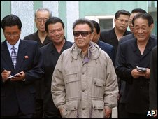 North Korean leader Kim Jong-il visits a factory in Tanchon, in an undated photo released on 6 June