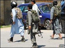 Taliban members in north-western Pakistan