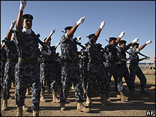 Iraqi soldiers on parade 29 June 2009