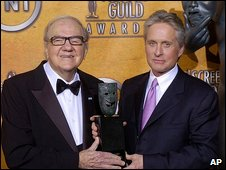 Karl Malden and Michael Douglas in 2004