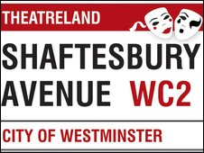 New Theatreland street sign