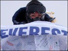 Lori Schneider on Everest
