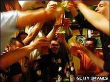Italian teenagers drinking alcohol (file image)