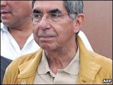 Costa Rican President Oscar Arias and representatives of Honduras talks in San Jose (19 July 2009)