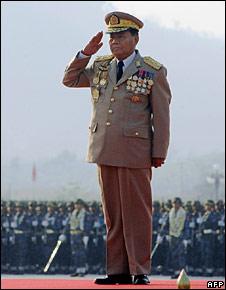 File image of Burma's top general, Than Shwe