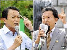 Premijer Taro Aso i opozicioni lider Jukio Hokojama