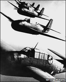 American Navy Avenger planes - similar to the ones that disappeared in the Bermuda Triangle