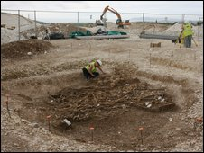 The burial pit (Copyright: Oxford Archaeology)