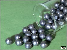 Picture of some lead balls