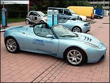 Tesla Roadster electric car by Renault-Nissan