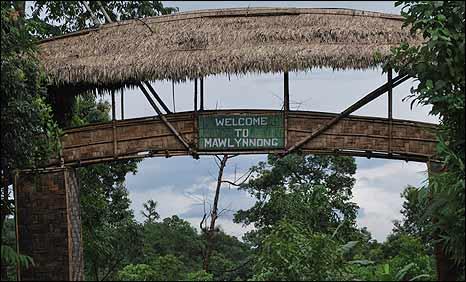 Bridge leading into the village of Mawlynnong