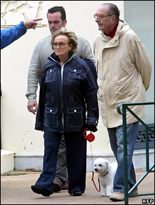 Bernadette and Jacques Chirac with Sumo (2007)