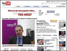 Tony Blair on YouTube