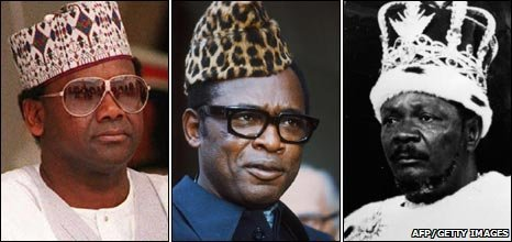 Sanni Abacha, Joseph Mobutu and Jean-Bedell Bokassa
