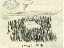 Craig Coulthard's design for the 'Forest Pitch'