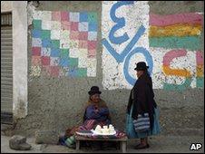 Two women in El Alto, Bolivia, 25 Nov