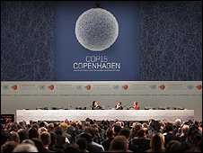 Climate conference hall, Copenhagen (Image: AP)