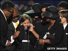 A memorial service to Michael Jackson