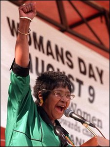 Winnie Mandala at Women's day conference