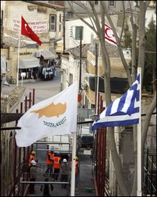 Flags in Nicosia