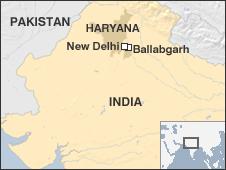 Map of Ballabgarh, Northern India