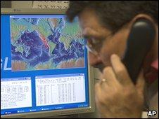 The Pacific Tsunami Warning Center in Hawaii gathers information