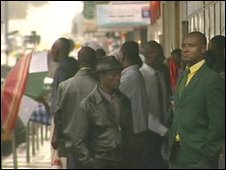 People on the street in Harare