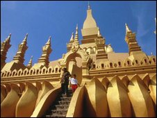 Pha That Luang stupa in Vientiane - a national symbol