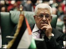 Mahmoud Abbas at the Arab League summit in Sirte (27 March 2010)