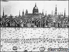 """Picture of a Thames """"forest fayre"""" in 1716 (Getty  Images)"""