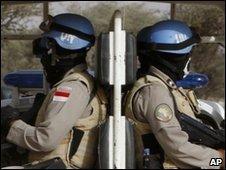 Unamid peacekeepers in Darfur - 13 April 2010