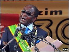 Robert Mugabe addressed a rapply marking 30 years of Zimbabwean  independence