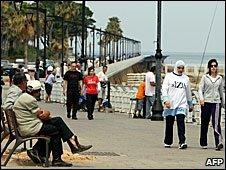 West Beirut's Manara seafront promenade