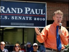 Rand Paul campaigns in Kentucky